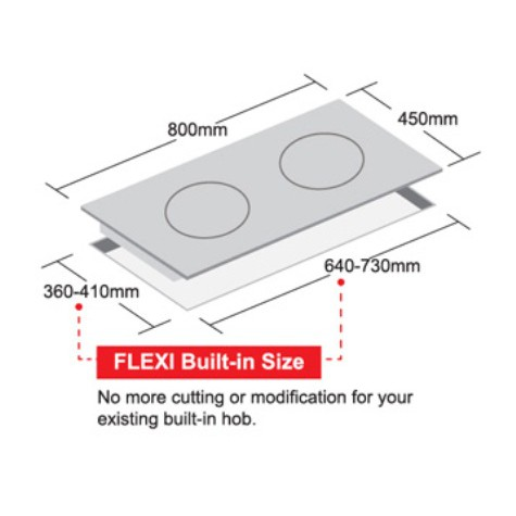 Firenzzi Flexi Size Gas Cooker Glass Hob (FGH-2155)