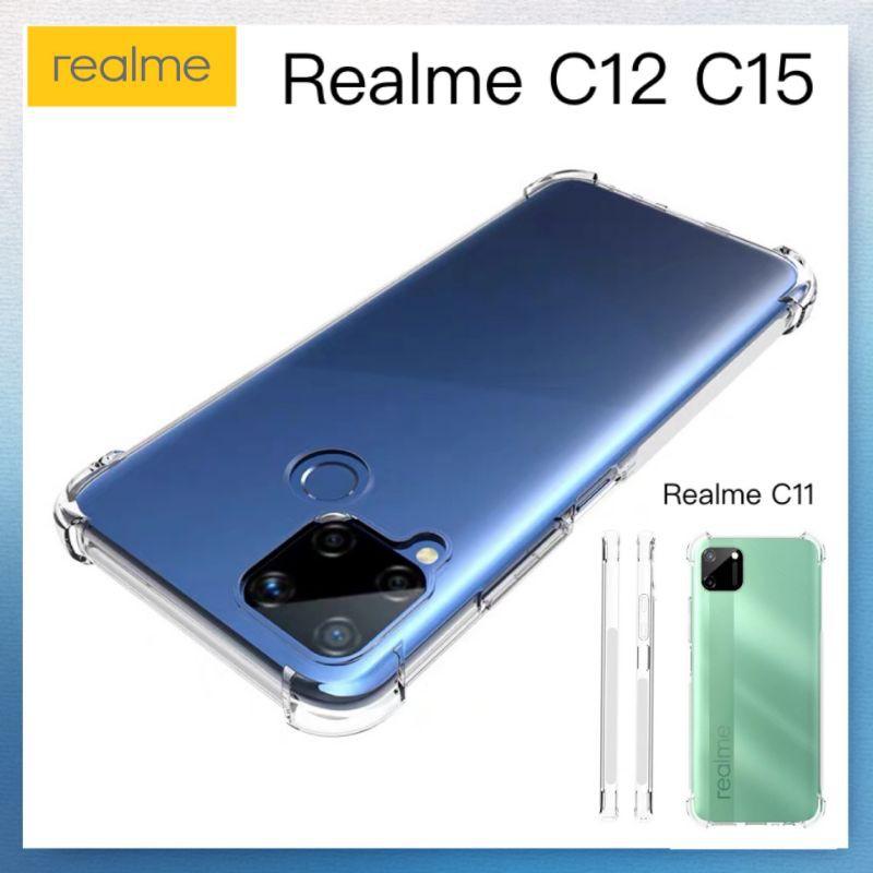 Anti Drop-proof Silicon Soft Case For Realme C15 C12 C11 Soft Back Cover Case