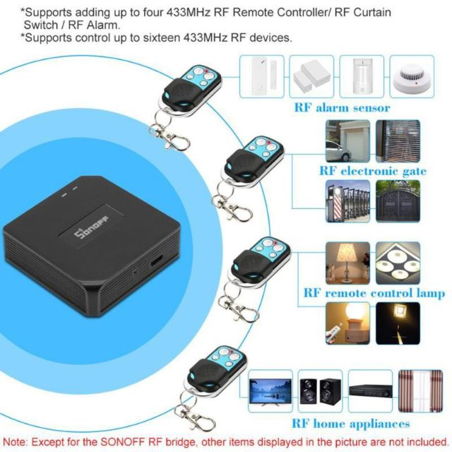 Sonoff Wifi 433mhz RF Bridge Smart Controller Switch Box