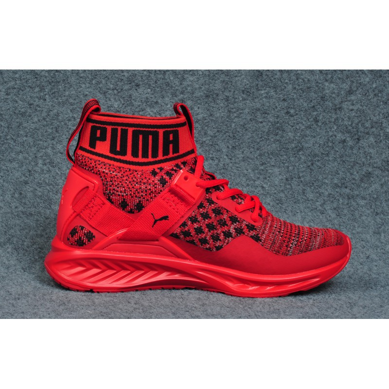 check out d67aa 5f34c Original Puma Ignite evoknit all red for men women running shoe with og box