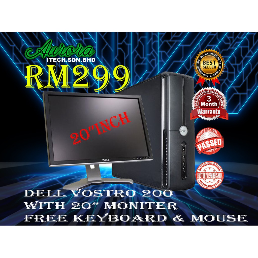 REFURBISHED)DELL VOSTRO 200 FULL SET | Shopee Malaysia