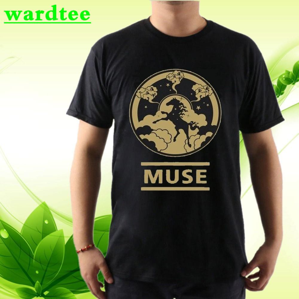 ❥WARDTEE Muse Rock Hard House Disk Music Drums T Shirt Gildan Father's Day  Gift