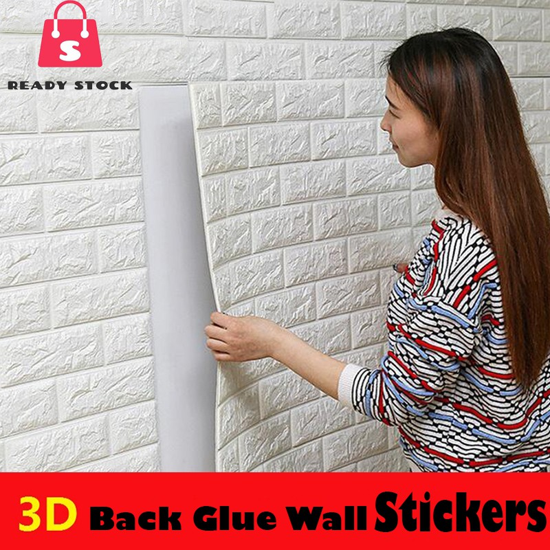 57a965b9ad 12-COLOUR 70x39cm 3D Wall Stickers Home Decor Wallpaper DIY Wall Decor Brick