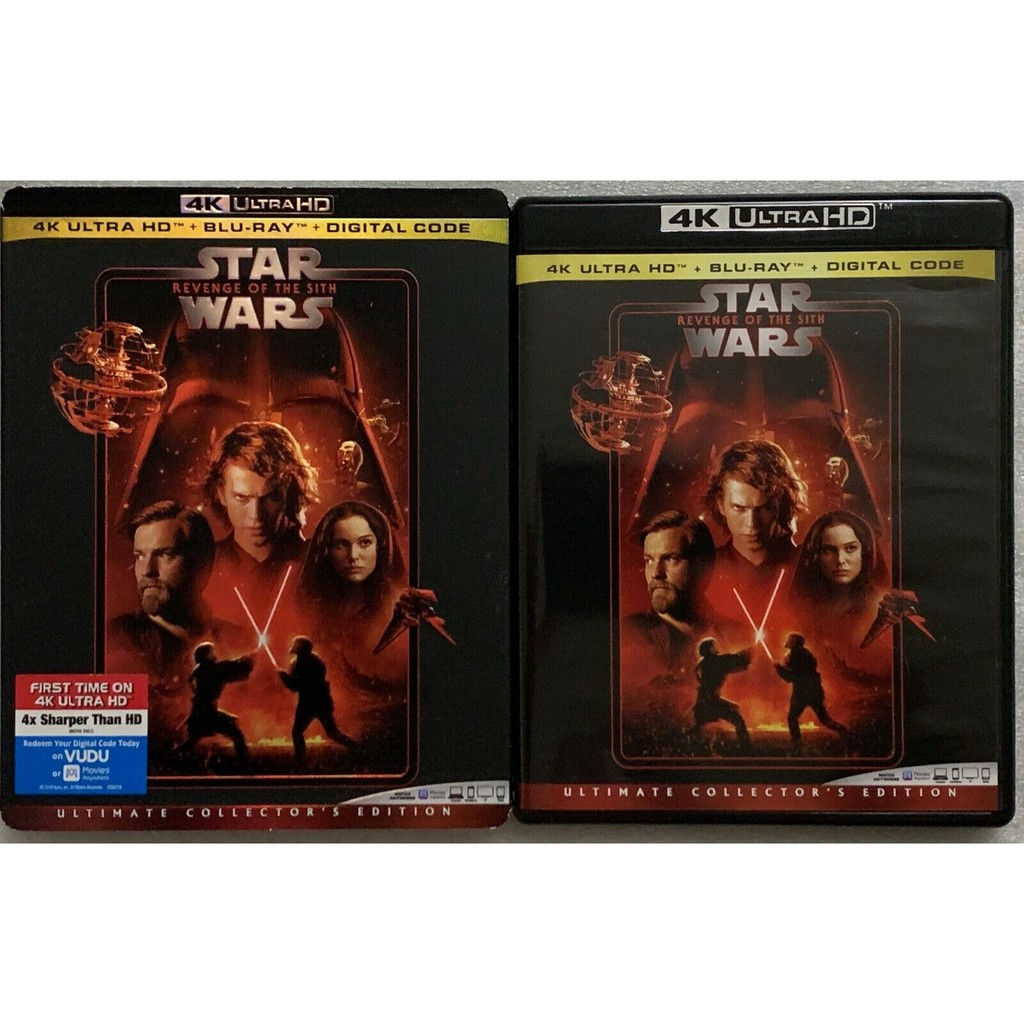Star Wars Episode Iii Revenge Of The Sith 4k Ultra Hd Blu Ray 3 Disc Slipcover No Digital Code New Us Import Original Shopee Malaysia