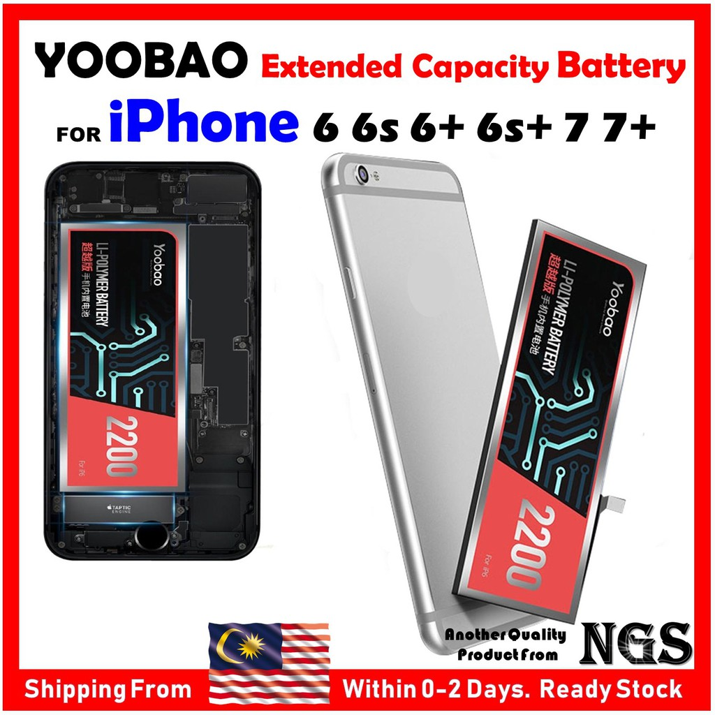 Original YOOBAO Extended Capacity Battery For iPhone 6 6s 6+ 6s+ 7 7P with  tools