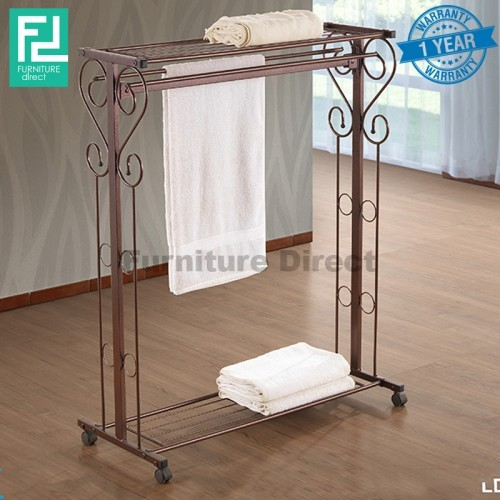 Furniture Direct BENNIS BS1018 wrought iron towel rack with organizer