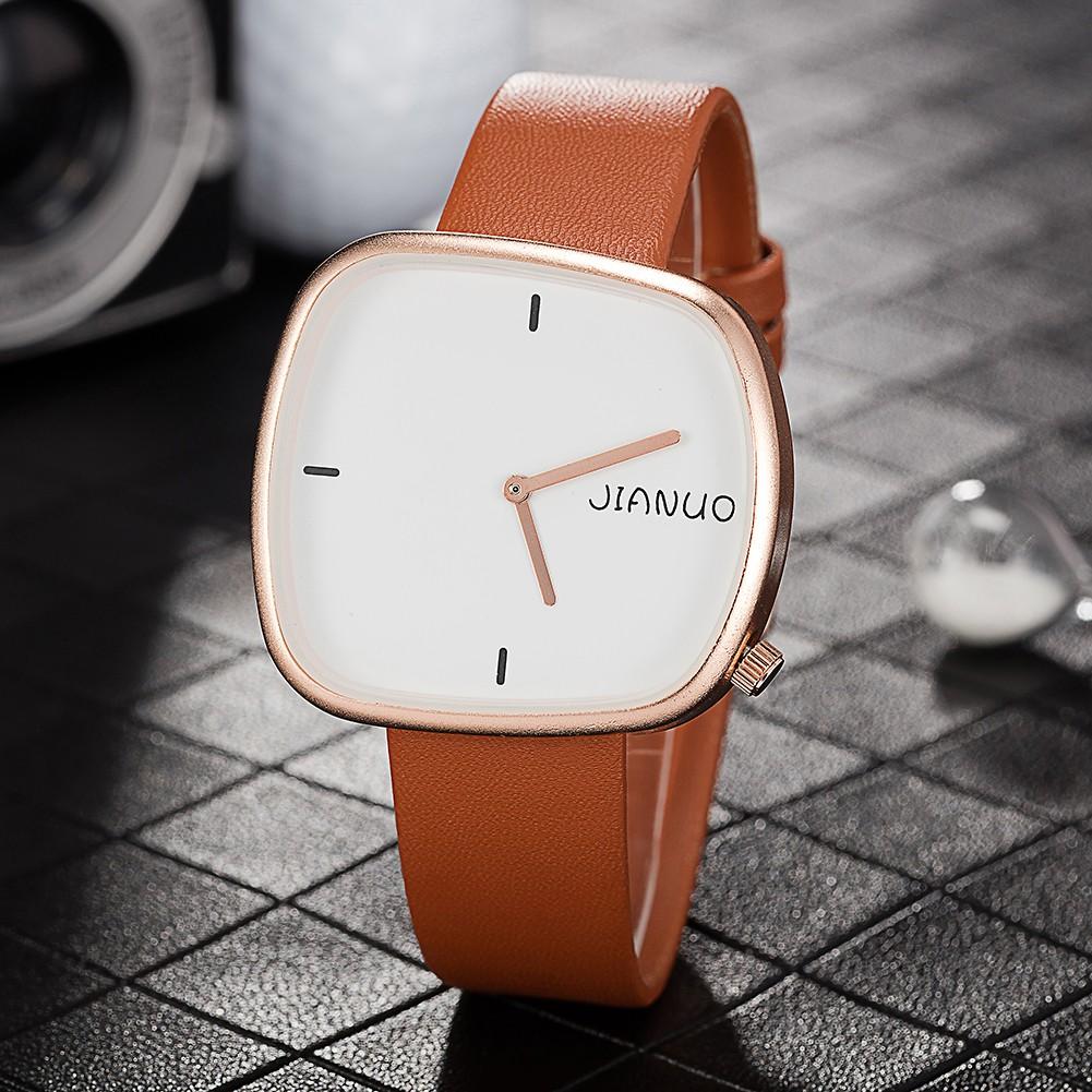 babdec887e JIANUO Brand brief Men s Quartz Watch Irregular square index dial ...
