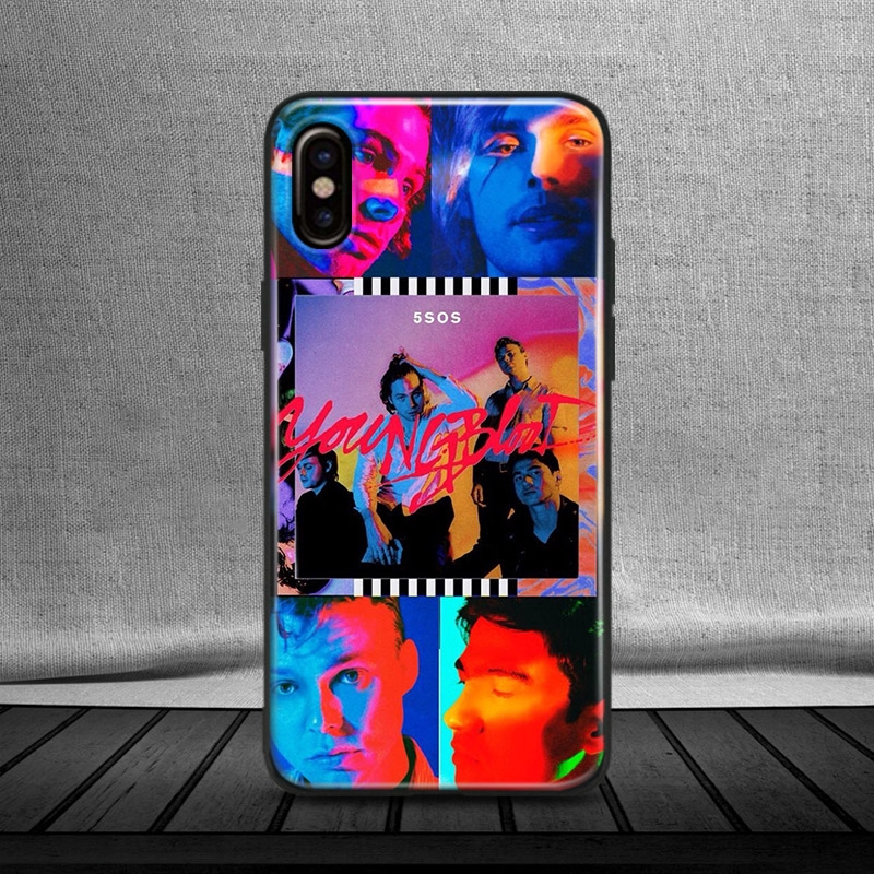 5 Seconds of Summer 5Sos iPhone 6 6s 7 8 Plus X XR XS MAX Soft Phone Case  Cover