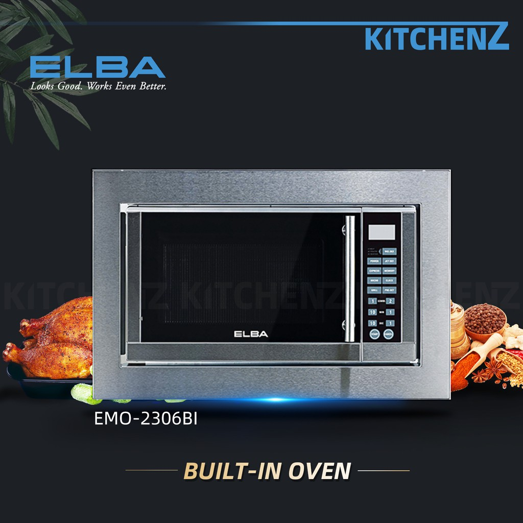 (FREE SHIPPING) Elba Microwave + Electric Oven Digital Timer EMO-2306BI