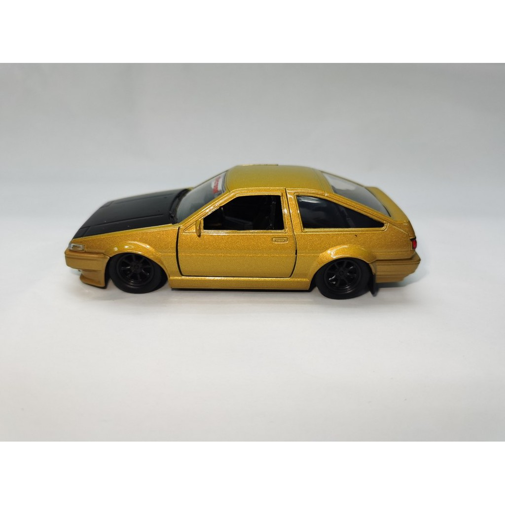 JADA 1:32 JDM METAL DIE CAST 1986 TOYOTA TRUENO AE86 CAR (GOLD) MODEL COLLECTION 30491