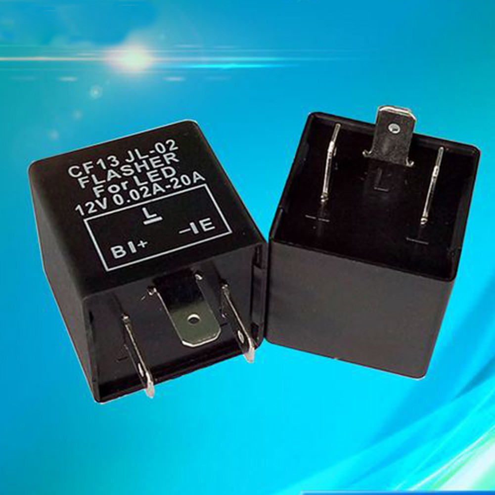 12V 3-Pin LED Adjustable Electronic Flasher Relay for Turn Signal ...