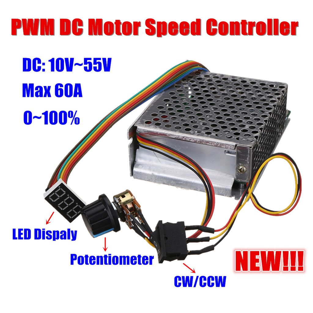 Dc 10 50v 12v 24v 48v 60a Pwm Motor Speed Controller Cw Ccw With Adjustable Delay Timer Electronic Reversible Switch Shopee Malaysia
