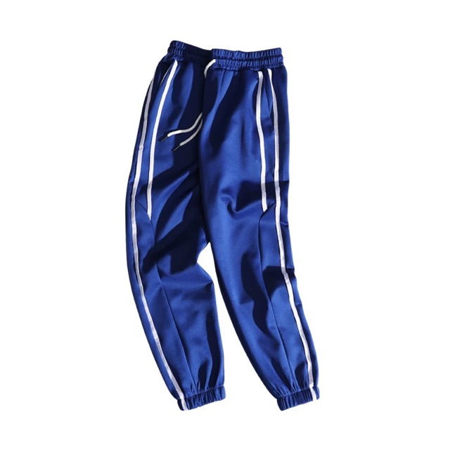 [M~3XL] Men Clothing Sports Pants 秋装新品宽松韩版男士百搭束腿裤男士百搭文艺条纹休闲男裤子