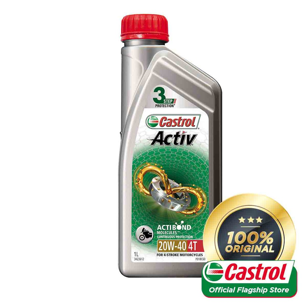 Castrol Activ 4T 20W-40 Continuous Protection For 4-Stroke