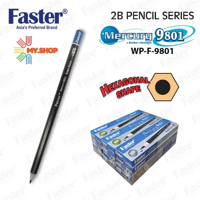 Faster 9801 Mercury 2B Pencil 1 Doz
