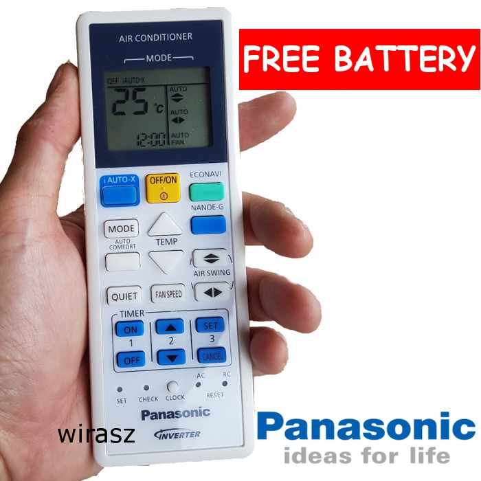 Panasonic Air Cond aircon remote control replacement part A75C4543 FREE  BATTERY