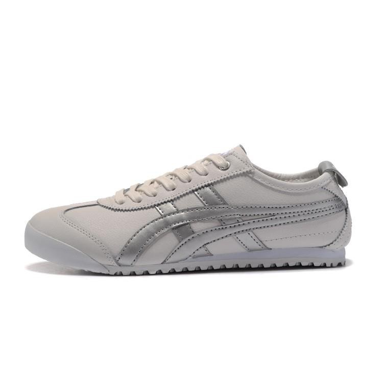 sale retailer 86b6f a6c4e jixde ASICS ONITSUKA tiger running shoes white/gold/silver