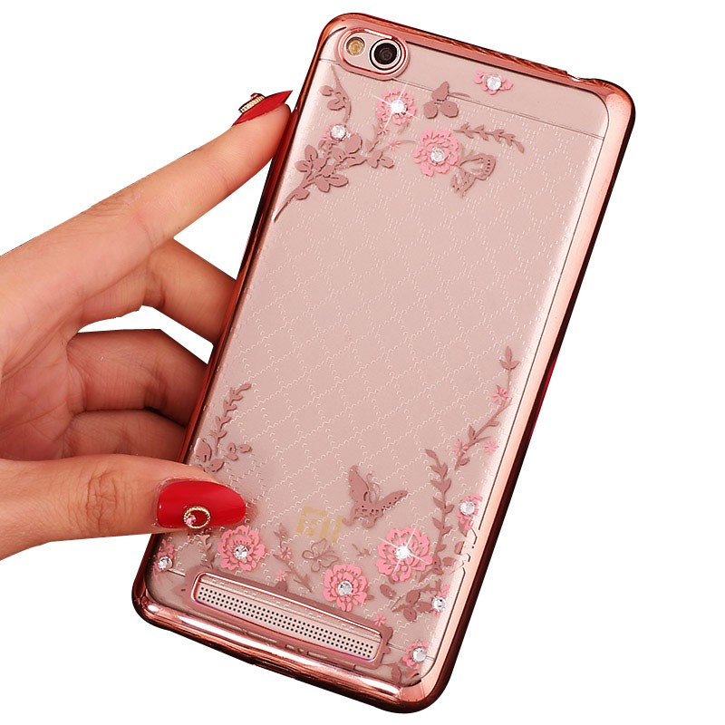 【LESHISHOP】 Xiaomi Redmi S2 3S 4A 4X 5 6 6A 5A 7 / 5 Plus / Note 5 6 Pro /  Note 7 Soft Cover Floral Phone Case