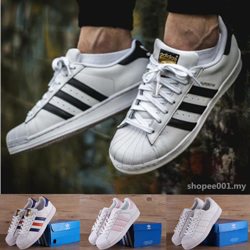 Original 100% Adidas Superstar Men and Women Shoes Casuals Sneakers (with box)