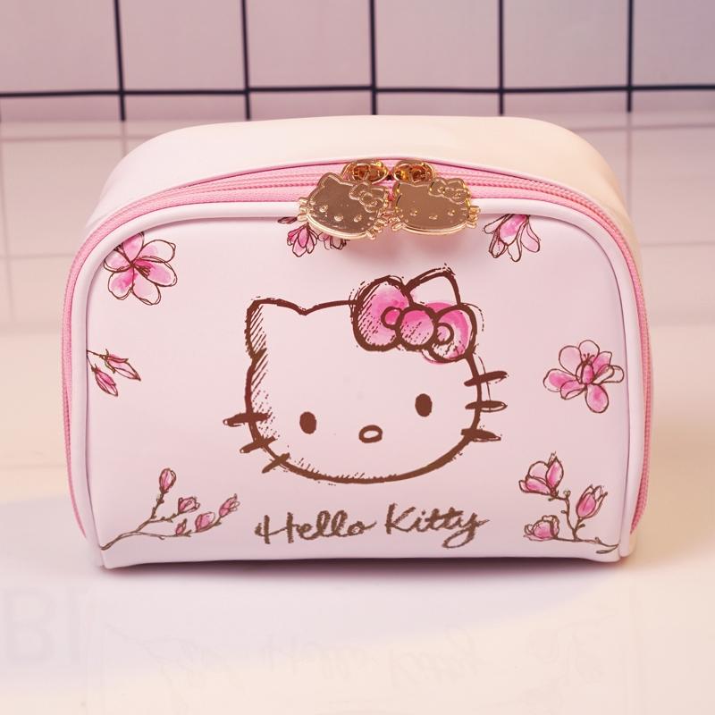 010528743 Hello Kitty Women Makeup Bag Plush Cosmetic Bag Travel Bag | Shopee Malaysia