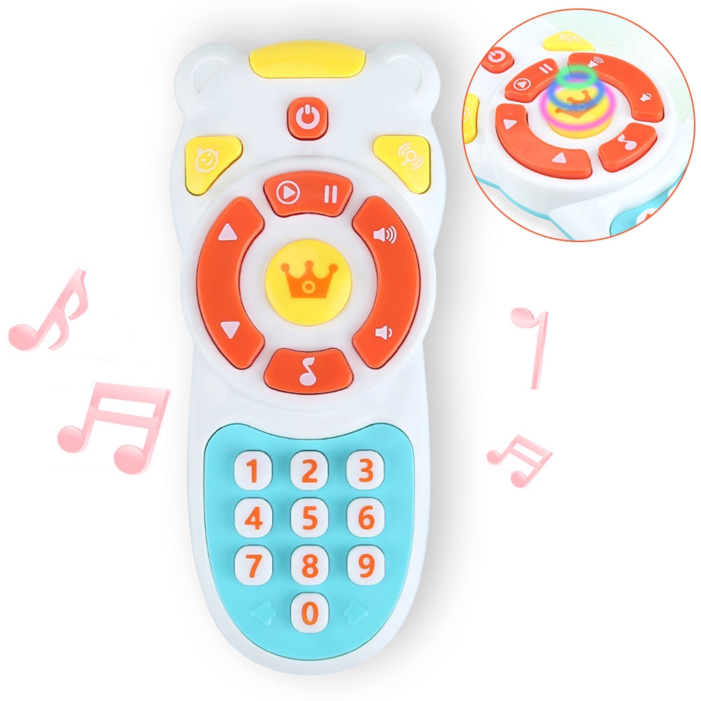 Kids Music Mobile Phone TV Remote Control Early Electric Numbers Learning Toys