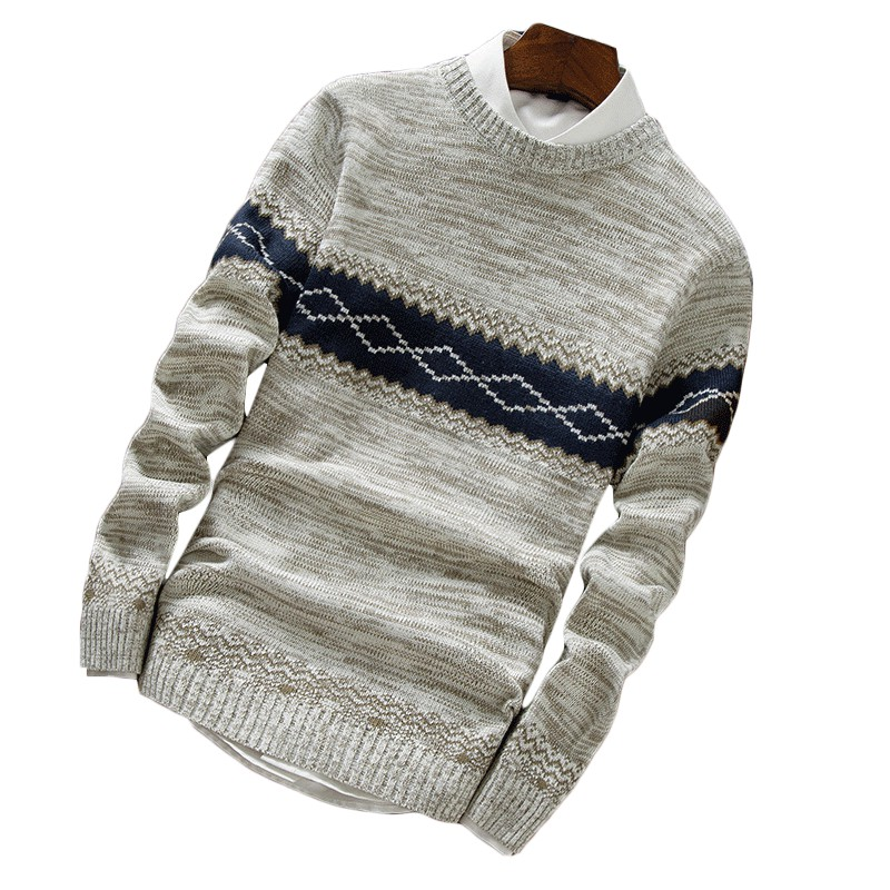 YYG Mens Knitting Long Sleeve Slim Fit Button Trimmed V-Neck Pullover Sweaters