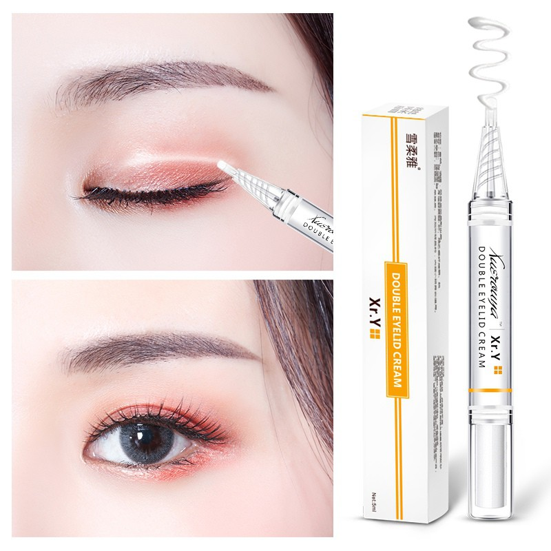 Natural Invisible Waterproof Double Eyelid Glue Styling Cream & Y-Shaped  Stick