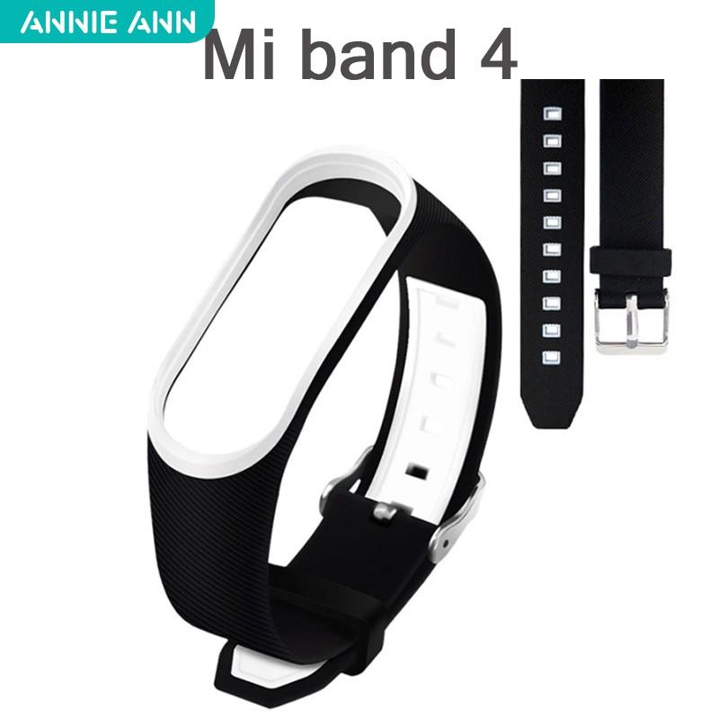 สายรัดข้อมือซิลิโคนสายรัดข้อมือ Xiaomi Miband mi4 mi3 สาย miband 3 สาย mi b