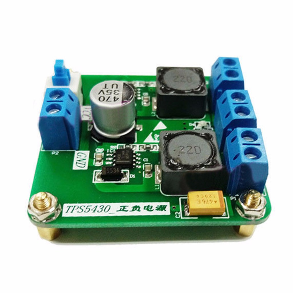 TPS5430 Positive Negative Dual Power Supply Board with Switching ±12V output