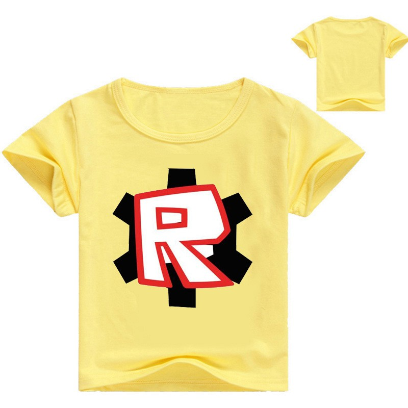 Yellowred Roblox Letter R Short Sleeve T Shirt Tee Tops - r roblox t shirt