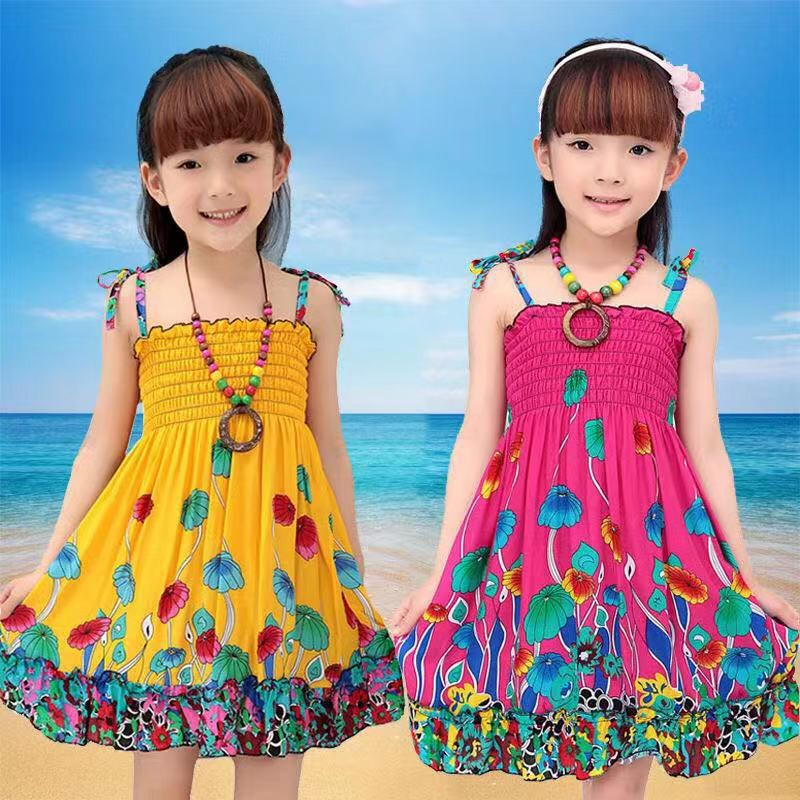 GIRLS SHORT SLEEVE FLORAL PRINT 100/% COTTON SUMMER DRESS,SIZE 2-14