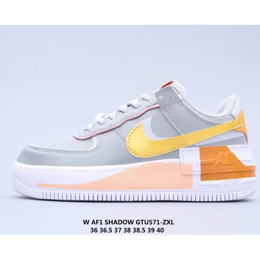 Nike Women S Air Force 1 Shadow Grey Yellow Shopee Malaysia The legendary air force 1 low casual shoes are still just as coveted today as they were when they first hit the scene in the 1980s. nike women s air force 1 shadow grey yellow
