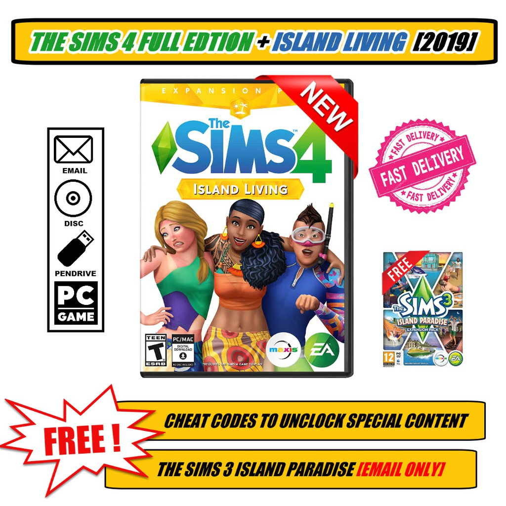 The Sims 4 Full Edition + Island Living 2019! PC Game