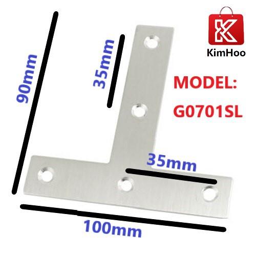 KIMHOO 100mm x 90mm Flat T Shape Repair Mending Plate Joining Bracket