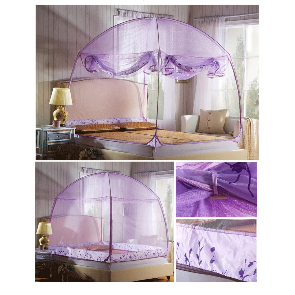 - Mongolian Yurt Net Bed Canopy Popup Dome Tent, Indoor And Outdoor