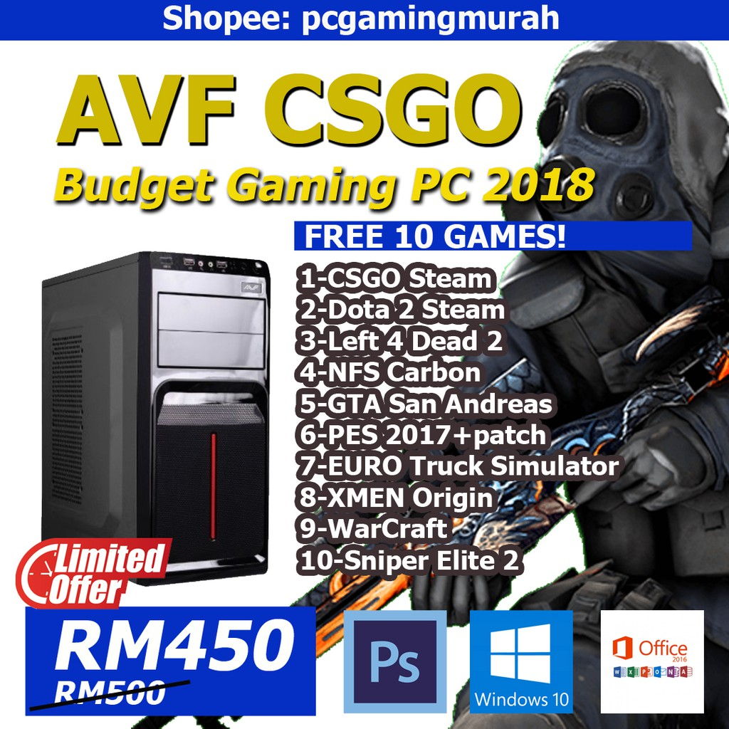 AVF CSGO PC GAMING MURAH 2018