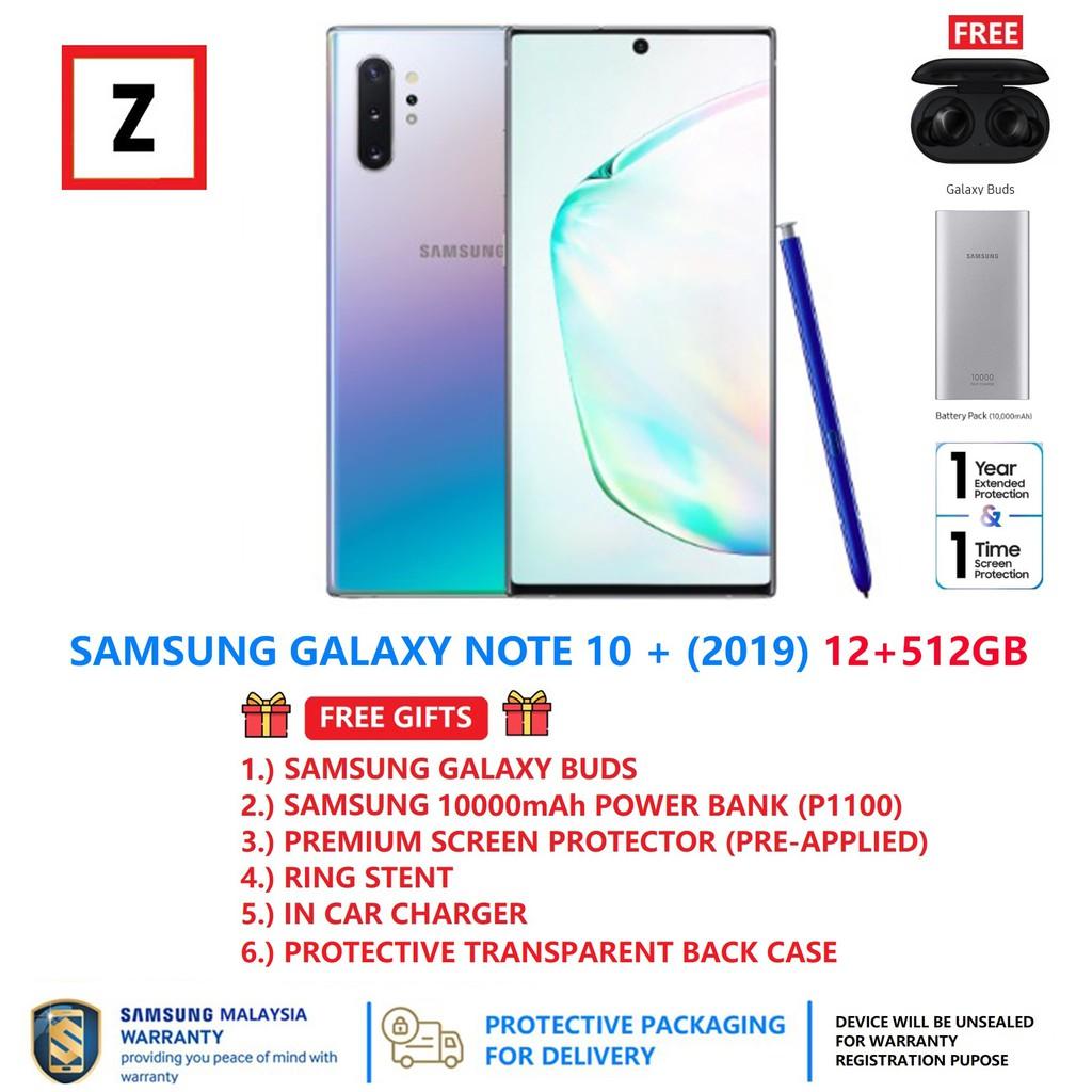 [FREE GIFTS] Samsung Galaxy Note 10+ 512GB (12GB RAM) (1 Year Samsung  Malaysia Warranty)