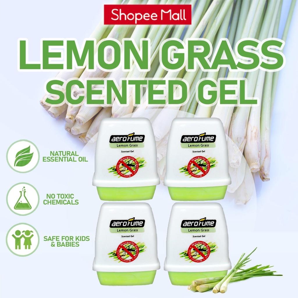 Lemon Grass Natural Mosquito Repellent Scented Gel Perfume Air Freshener (4 Pcs)  Pewangi Serai Wangi Nyamuk