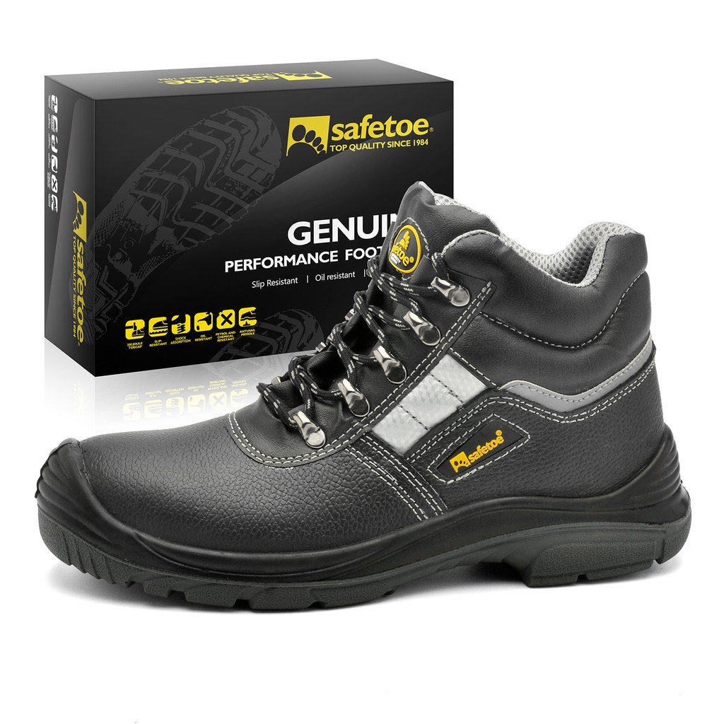 ed2748546ae7 Work Safety Steel Shoes Water Resistant Outdoor Fashion Ankle Boots Safety  Boots
