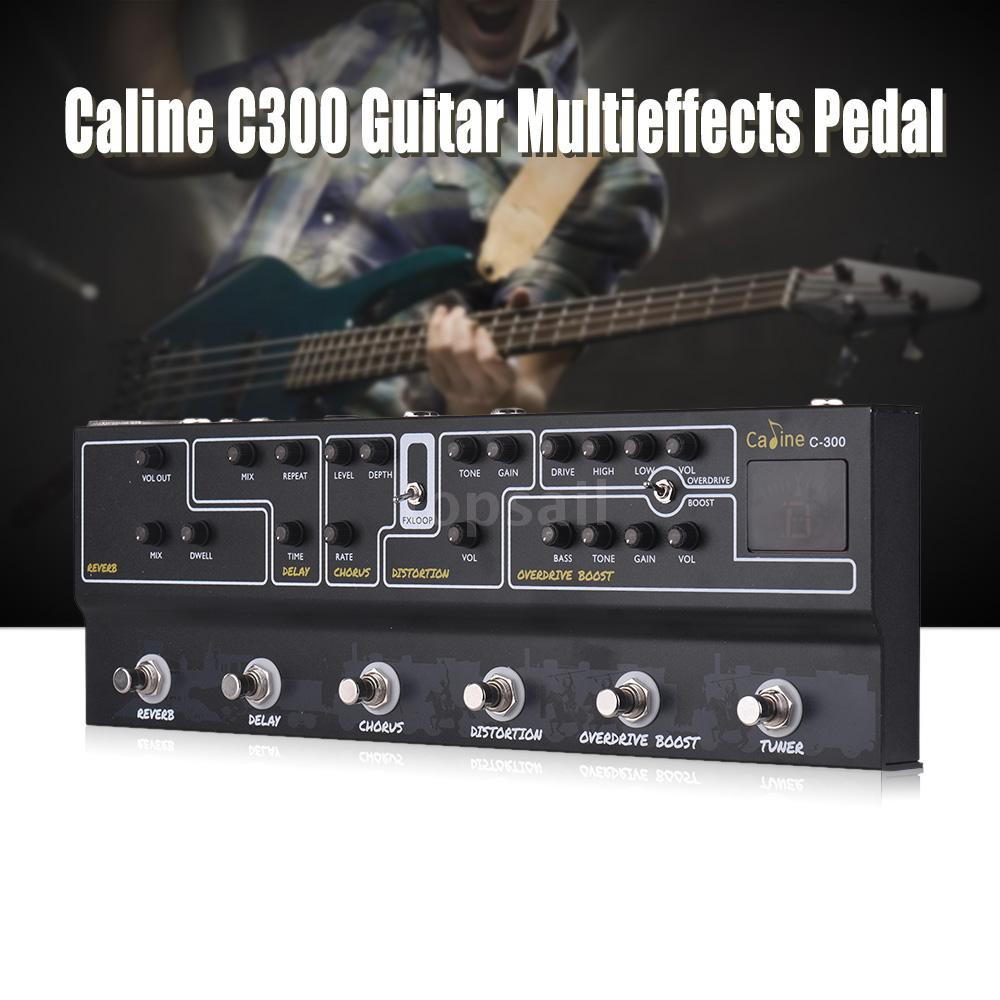 Caline C300 Guitar Pedal All in One Multi Effects Pedal Reverb Analog Delay  Chorus Distortion Overdrive Boost Tuner Amp