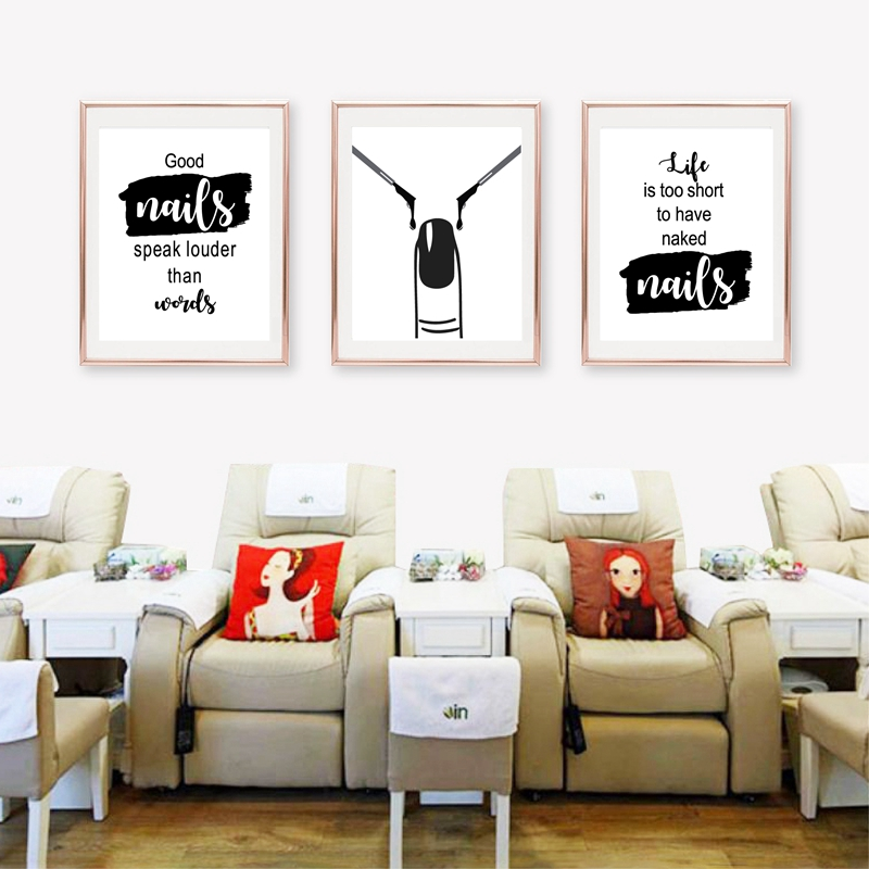 Nail Art Beauty Salon Canvas Painting Unframed Picture Wall Decor Poster