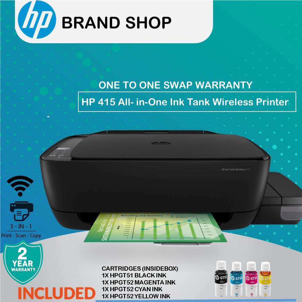 HP Ink Tank Wireless 415 AIO Printer (Z4B53A) (Print, Scan, Copy, Wireless)
