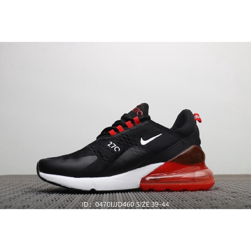fresh styles 100% high quality big discount Nike Wmns Air Max 270 Flyknit Half Palm Men's Running Shoes-Black White Red