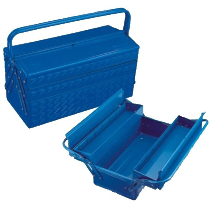 HONG YU METAL TOOL BOX 3 LAYER ( BLUE COLOUR ) = JS093