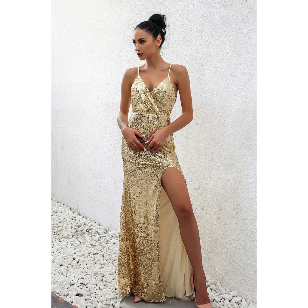 Christmas Dinner Dresses.Winter Christmas Party Sexy Sequin Maxi Long Dress Formal Wedding Evening Dress