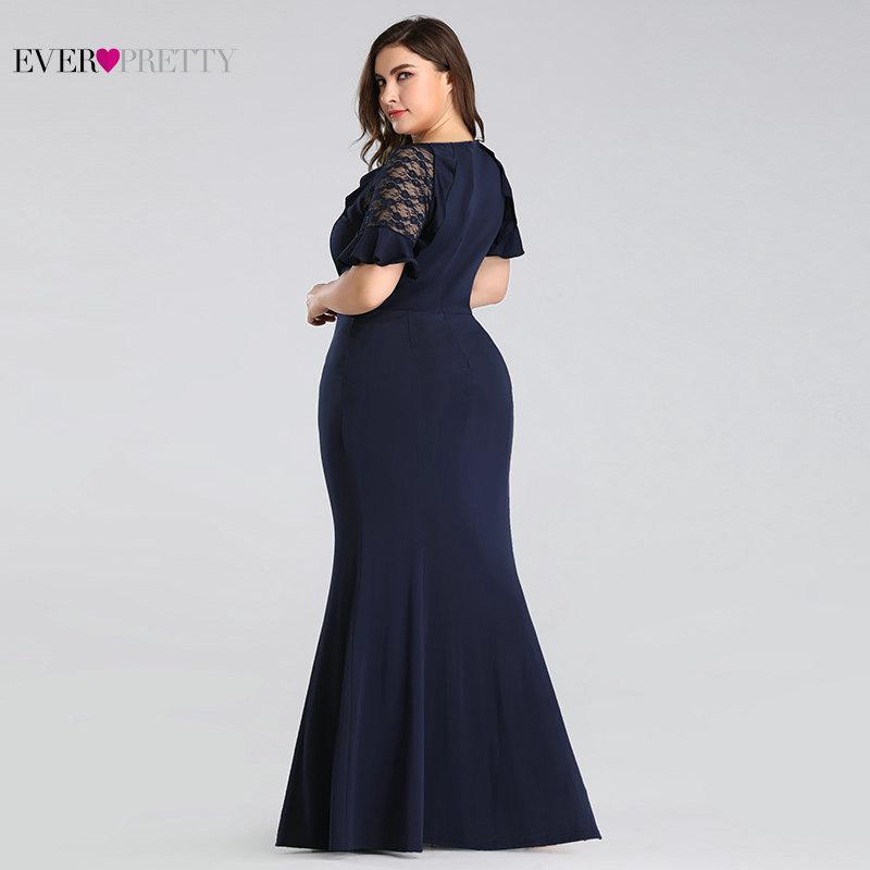 4xl 9xl Ever Pretty Plus Size Long Dinner Dress Long Navy Blue Lace Sleeve Mermaid Wedding Guest Gown 7768 Shopee Malaysia,Second Marriage Plus Size Casual Beach Wedding Dresses