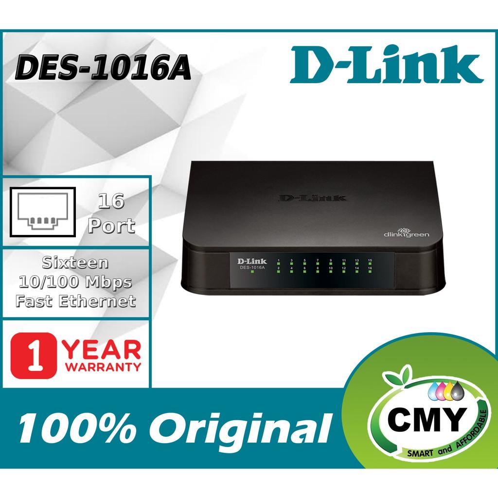 D-LINK 16 Port Fast Ethernet Switch DES-1016A 10/100mbps similar with DGS-1016D