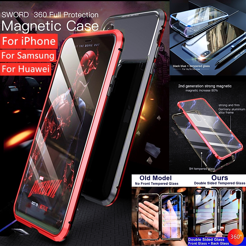 Luxury 360 Degree Full Cover Phone Case For Xiaomi Redmi Note 2 3 4 4X 5A 5 Pro 6 pro Note 7 Screen Glass Protector case | Shopee Malaysia