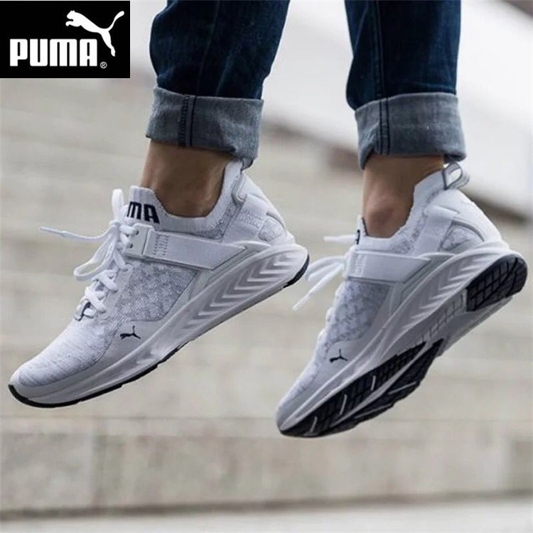 brand new f0797 9514f HN Fashion Puma Ignite Evoknit Lo pure white men sport running leisure  shoes women