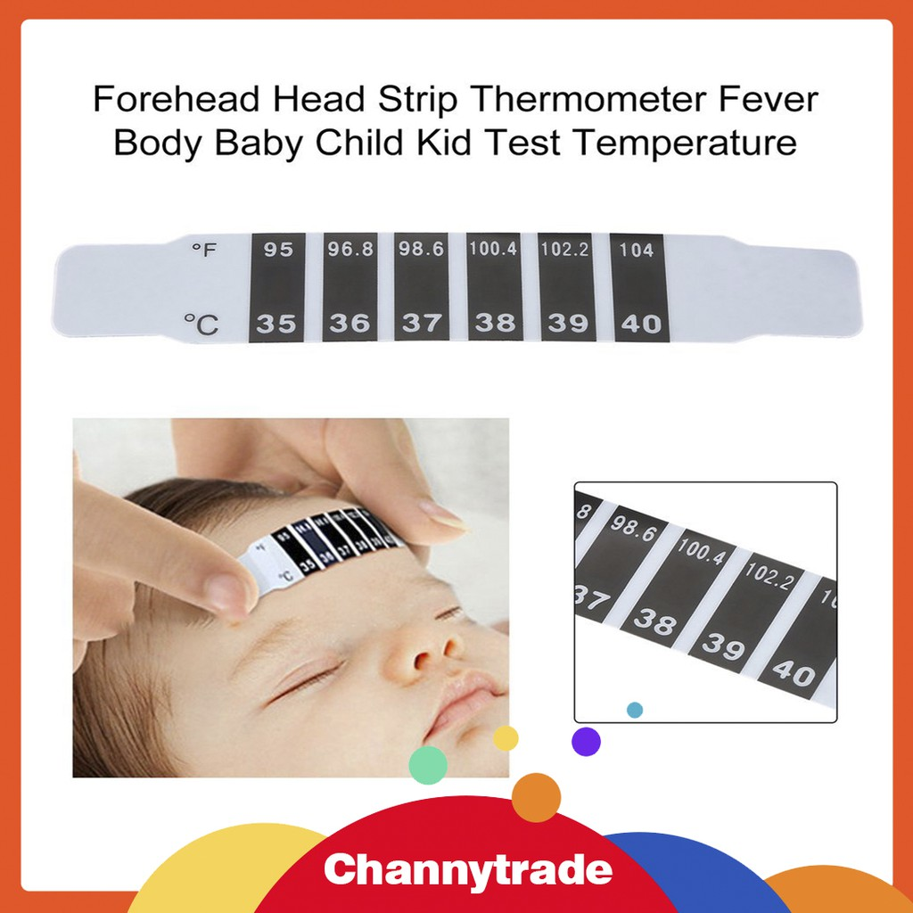 Baby Kids Forehead Strip Head Thermometer Fever Body Temperature Test essential
